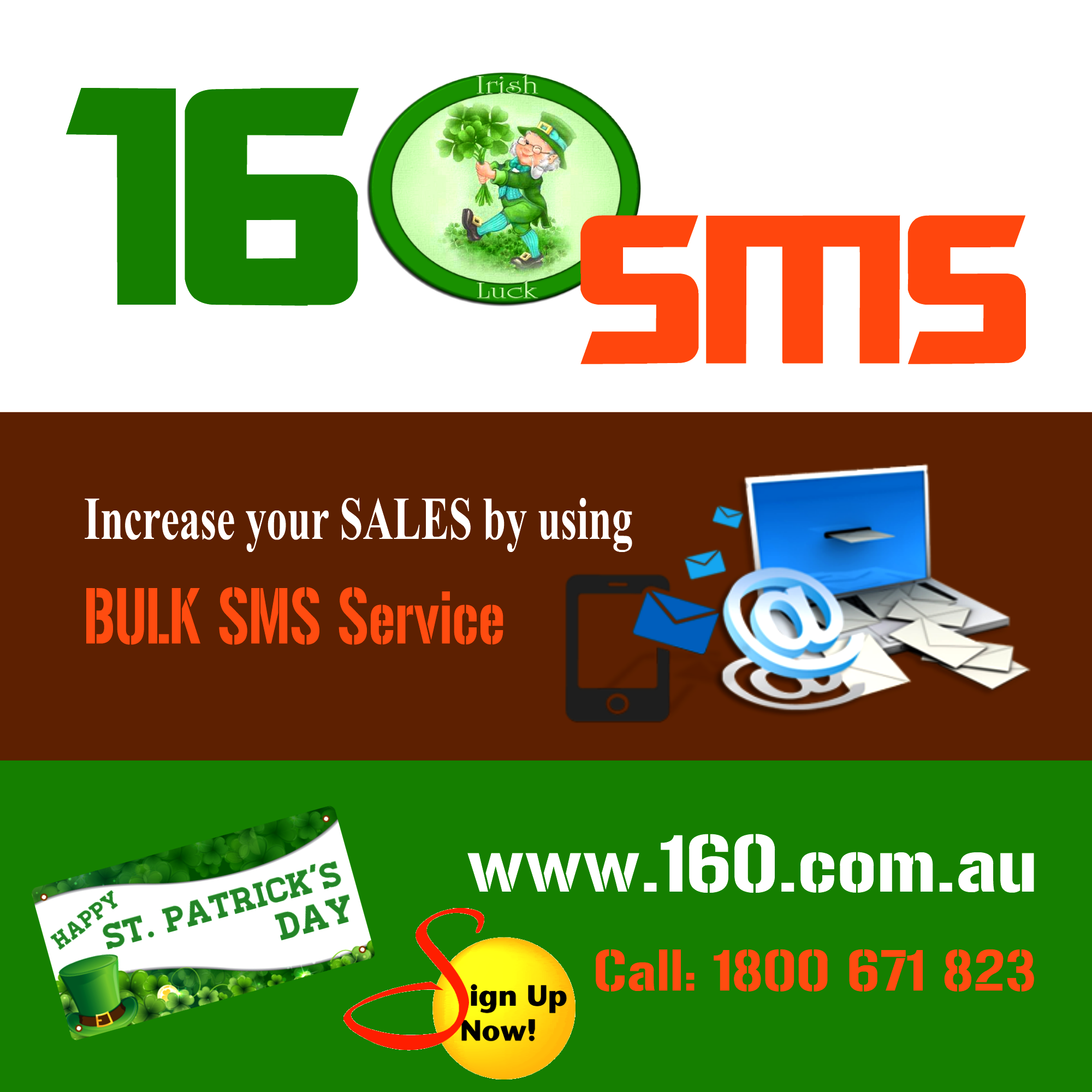 160 SMS 173 Happy St. Patricks Day!